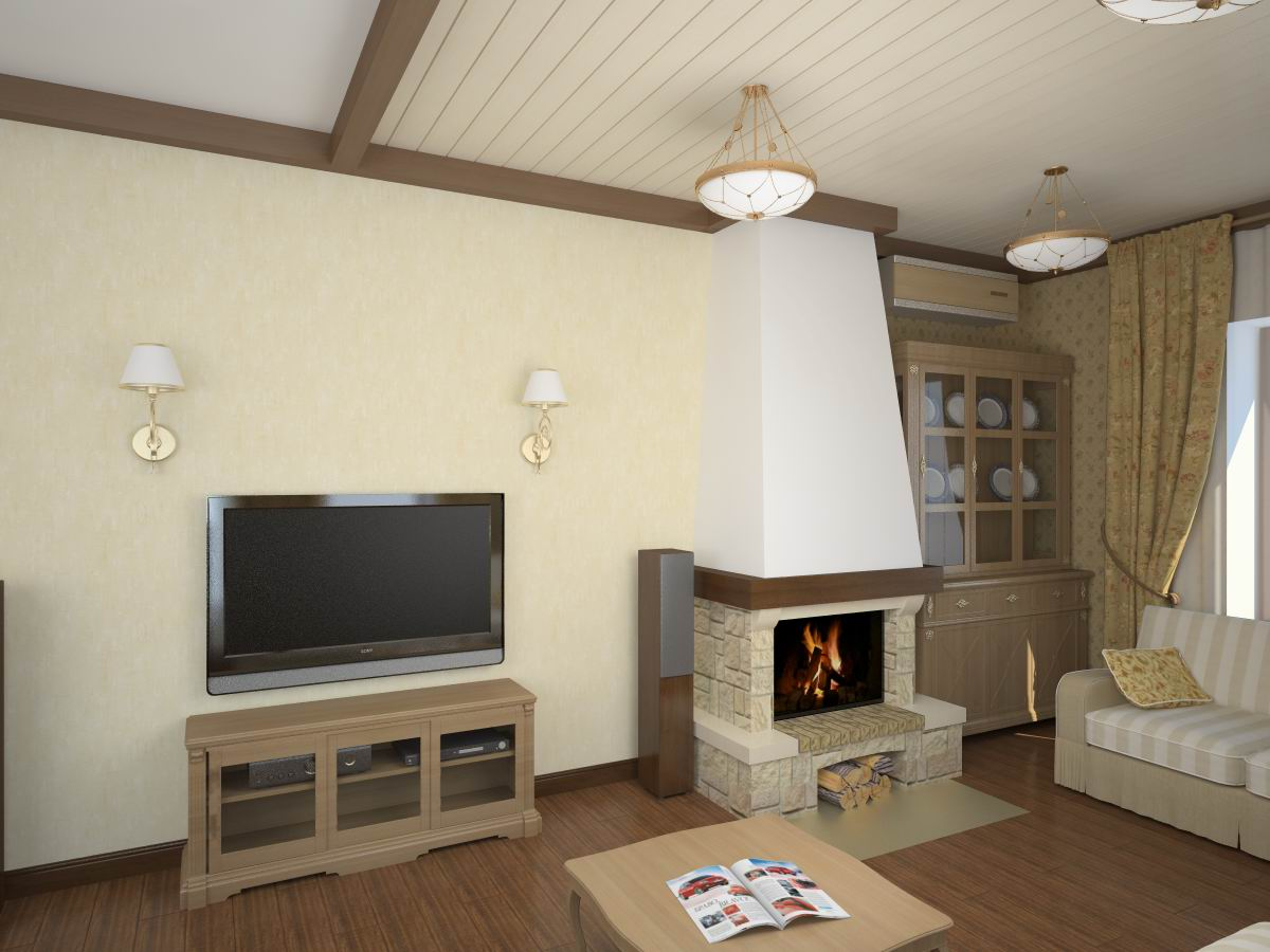 Дизайн гостиной совмещенной с кабинетом