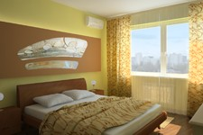 Спальня с витражом
