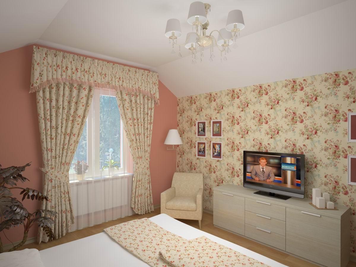 Дизайн интерьера спальни. В интерьере спальни можно сделать отдельную зону