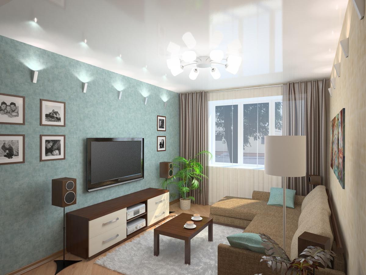 Для семьи с ребенком дизайн однокомнатной квартиры