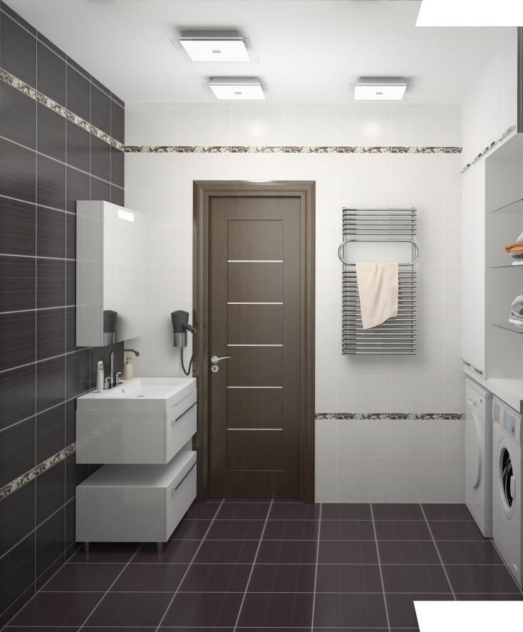 Фотография ванной комнаты маленького